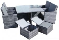The Deluxe 4 Seater Cube Dining Suite
